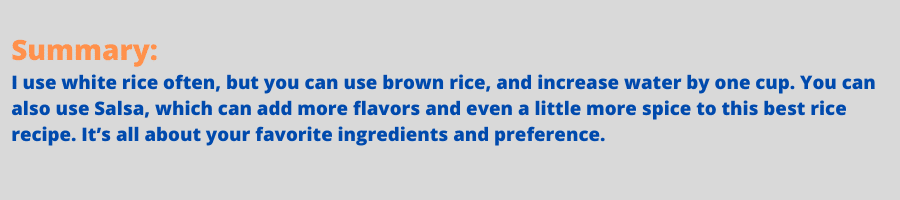infographic for spanish rice