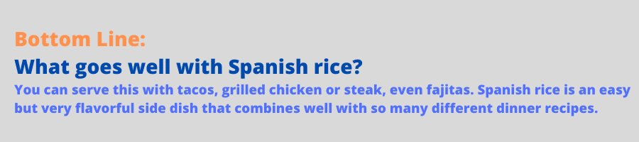 infographic for spanish rice in rice cooker