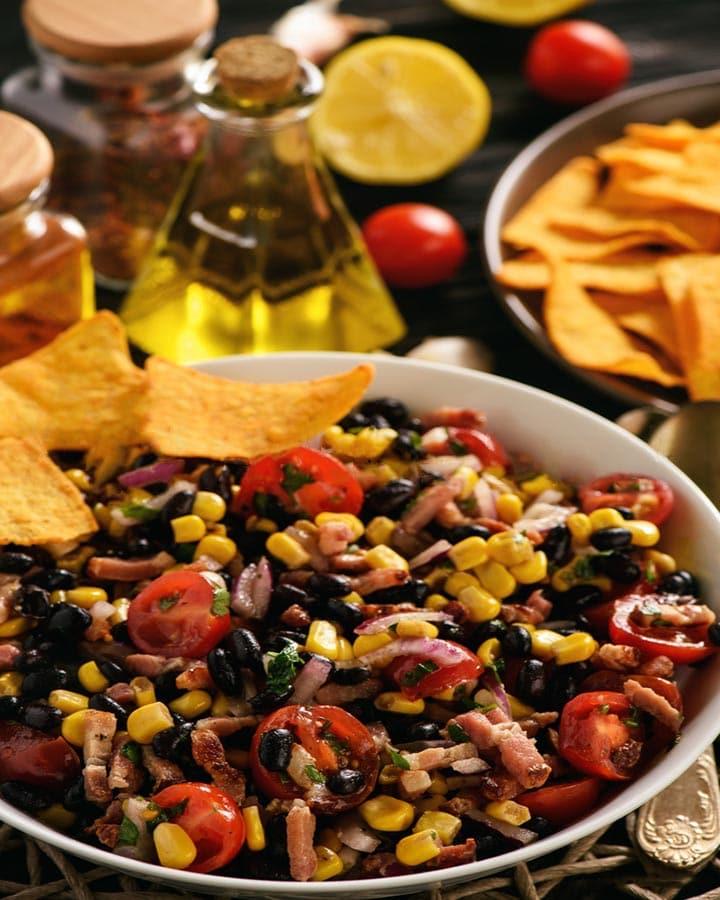 Healthy Black Bean Chili Salad
