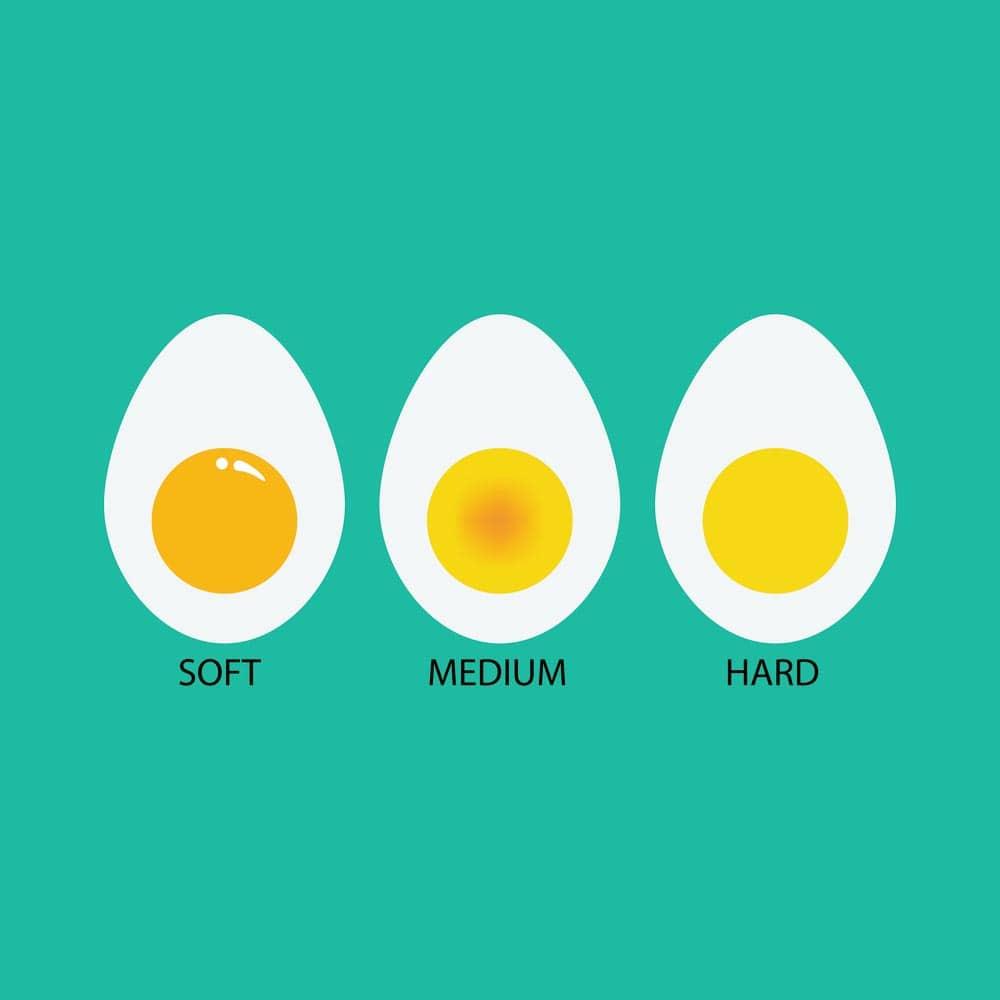 3 types of eggs